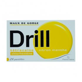 PIERRE FABRE Drill citron menthe 24 pastilles