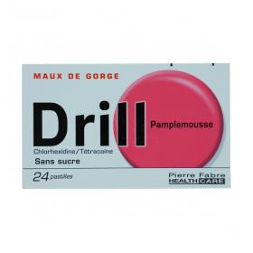 Drill sans sucre pamplemousse 24 pastilles