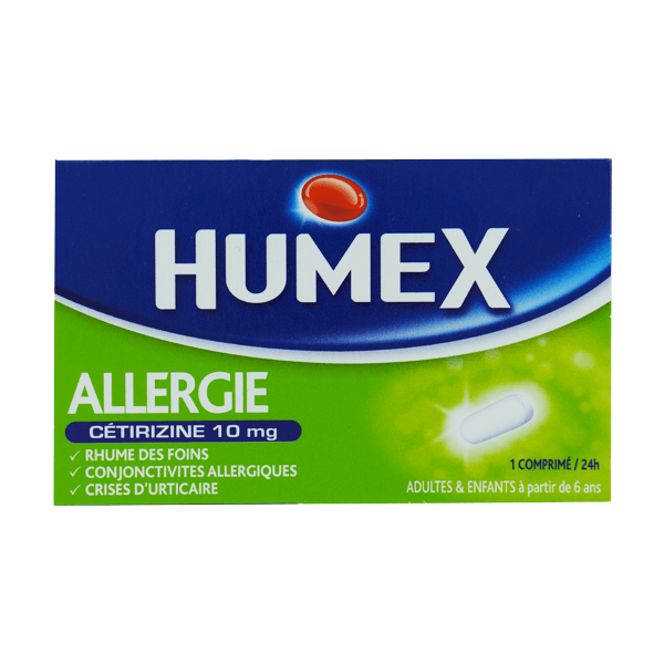 humex allergie cetirizine 10mg 7 comprim s pellicul s s cables m dicaments pharmarket. Black Bedroom Furniture Sets. Home Design Ideas