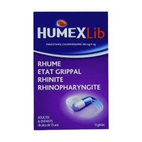 HUMEX Humexlib paracetamol chlorphenamine 500mg/4mg 16 gélules