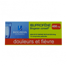 BIOGARAN Ibuprofene 400mg 10 comprimés pelliculés