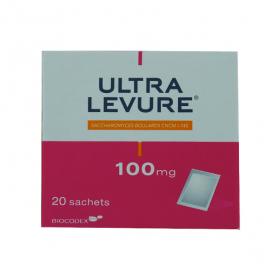 Ultra levure 100mg poudre pour suspension buvable en 20 sachets