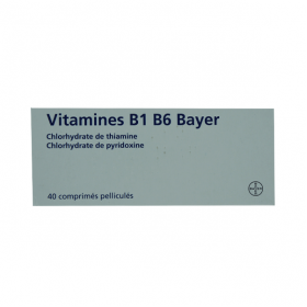 BAYER Vitamine B1 B6 40 comprimés pelliculés