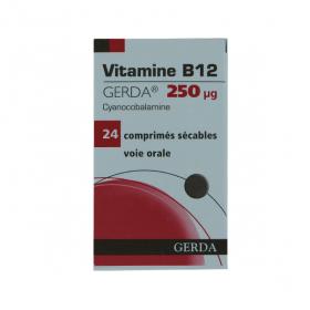 Vitamine B12 250µg 24 comprimés sécables