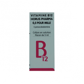 Vitamine B12 0,5 pour mille collyre en solution 5ml