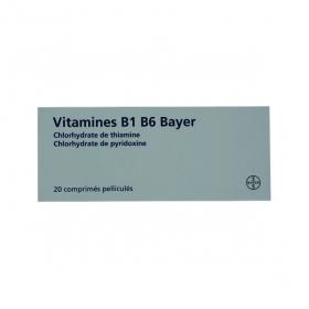 Vitamine B1 B6 20 comprimés pelliculés