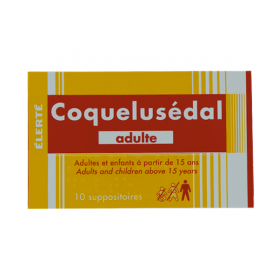 ELERTE Coquelusedal adultes 10 suppositoires