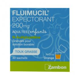 ZAMBON Fluimucil 200mg granulés pour solution buvable 30 sachets