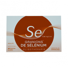 Granions de selenium 0,96mg/2ml solution buvable 30 ampoules