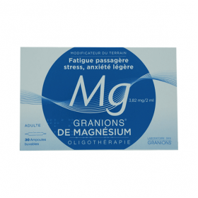 Granions de magnesium 3,82mg/2ml solution buvable 30 ampoules