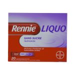 BAYER Rennieliquo sans sucre suspension buvable en 20 sachets doses