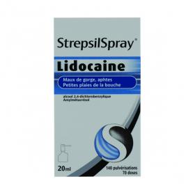 Strepsilspray à la lidocaine collutoire 20ml