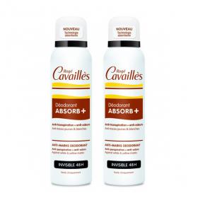 ROGÉ CAVAILLES Déo-soin invisible spray lot 2 150ml