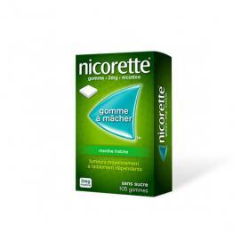 NICORETTE Menthe fraîche sans sucre boîte de 105 gommes à mâcher 2mg
