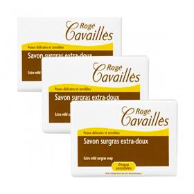 ROGÉ CAVAILLES Savon surgras extra-doux lait et miel 3x250g