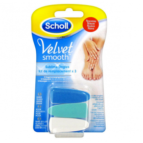 SCHOLL Velvet smooth recharge sublime ongles 3 embouts