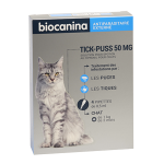 BIOCANINA Tick-puss 50mg chat 4 pipettes