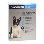 Tick-puss chien moyen 134mg 4 pipettes