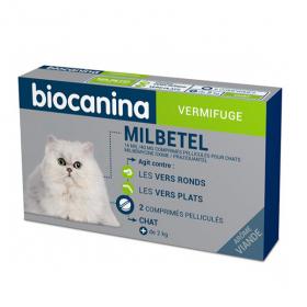 BIOCANINA Mibetel 16 mg/40 mg chat 2 comprimés pélliculés