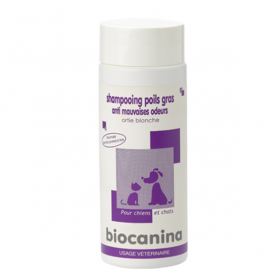 BIOCANINA Shampooing poil gras et anti-mauvaise odeurs 200ml
