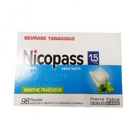 Menthe fraicheur sans sucre 96 pastilles 1,5mg