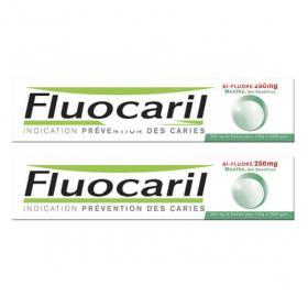 FLUOCARIL Bi-fluoré 250mg menthe pâte dentifrice lot 2x75ml