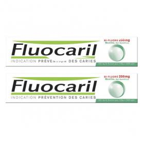 FLUOCARIL Bi-fluoré 250mg menthe pâte dentifrice lot 2x75ml