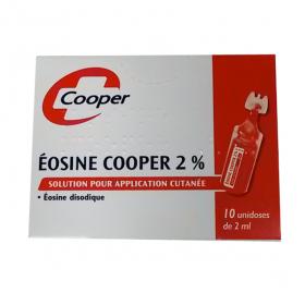 COOPER Eosine 2% solution pour application cutanée en récipient dose 2ml 10 doses