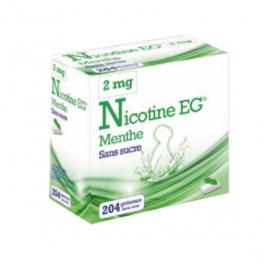 Nicotine eg menthe sans sucre 204 gommes à mâcher 2mg