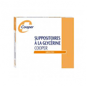 COOPER Suppositoire glycerine adulte 50 unités