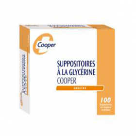 COOPER Suppositoire glycerine adulte 100 unités