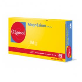 Oligosol magnésium 28 ampoules 2ml