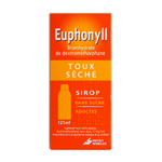 MAYOLY SPINDLER Euphonyll toux sèche 15mg/5ml adultes sans sucre sirop 125ml