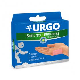 URGO Brûlures blessures superficielles 4 tulles stériles