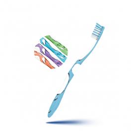 Brosse à dents anti-plaque medium 1 unité