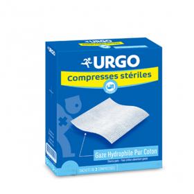 URGO Compresse stérile gaze 10 cm x 10 cm 25x2 unités