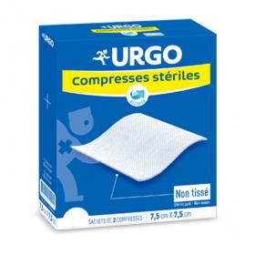 URGO Compresses stériles non tissées 7.5x7.5 cm 50x2 unités