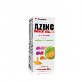 Azinc forme et vitalité solution buvable orange 150ml