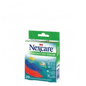 3M SANTE Nexcare comfort protection 360° 20 pansements de couleurs