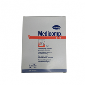 HARTMANN Medicomp compresses stériles non tissées 10x10 cm 10x2unités