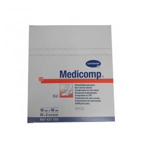 HARTMANN Medicomp compresses stériles non tissées 10x10 cm 25x2unités