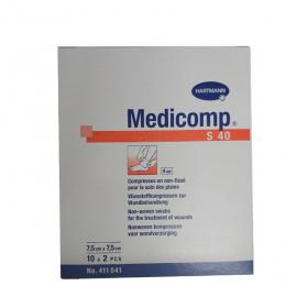 Medicomp compresses stériles non tissées 7.5x7.5 cm 10x2 unités