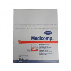 HARTMANN Medicomp compresses stériles non tissées 7.5x7.5 cm 25x2 unités