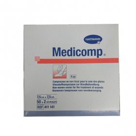 HARTMANN Medicomp compresses stériles non tissées 7.5x7.5 cm 50x2 unités