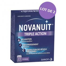 NOVASANTÉ Novanuit triple action lot 2x30 gélules