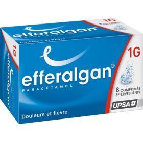 EFFERALGAN 1g 8 comprimés effervescents