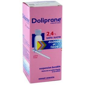 Doliprane 2,4% sans sucre suspension buvable 100ml