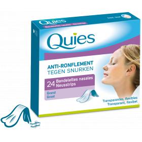 QUIES Anti-ronflement grandes bandelettes nasales x24