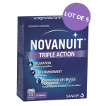 Novanuit triple action lot 5x30 gélules