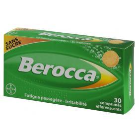 BAYER Berocca sans sucre 30 comprimés effervescents